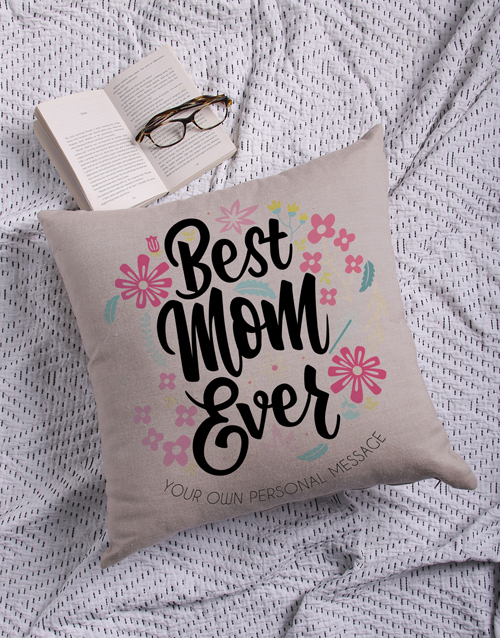 christmas: Personalised Best Mom Scatter Cushion!