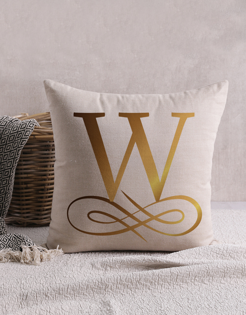 christmas: Personalised Gold Foil Surname Scatter Cushion!