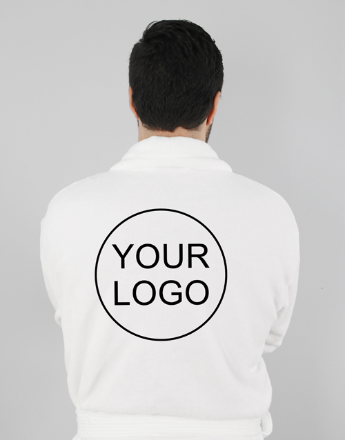 easter: Personalised Own Logo White Fleece Gown!