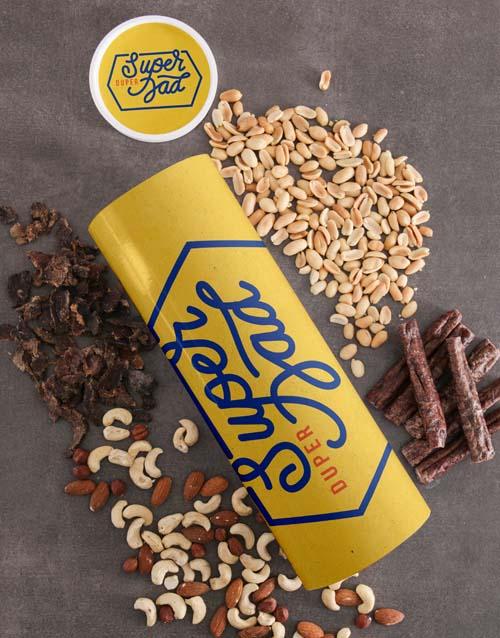 gourmet: Personalised Super Duper Biltong And Nuts Tube!