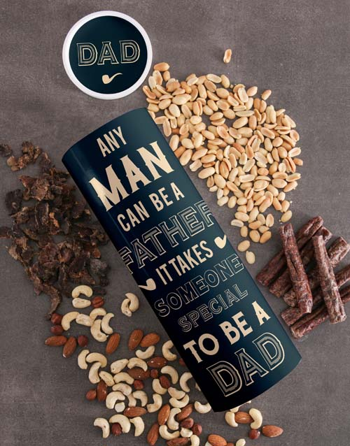 gourmet: Personalised Special Dad Biltong And Nuts Tube!