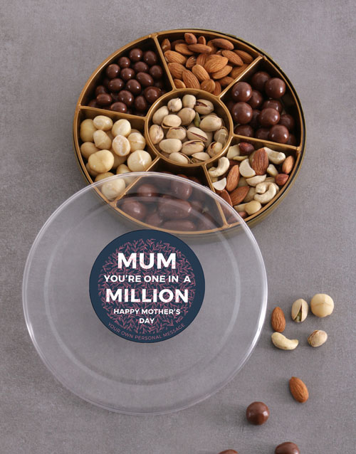 gourmet: Personalised Mum In A Million Nut Tray!