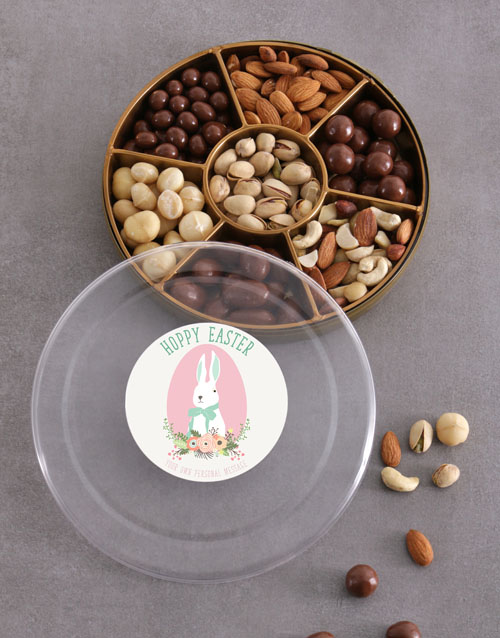 easter: Personalised Hoppy Easter Nut Tray!