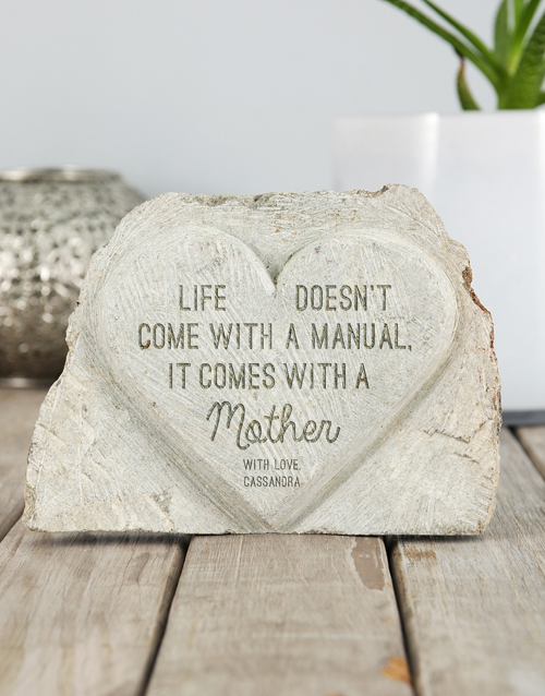 mothers-day: Personalised It Comes With A Mother Stone Heart !