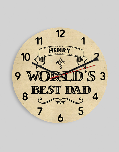 home-decor: Personalised Worlds Best Dad Clock!