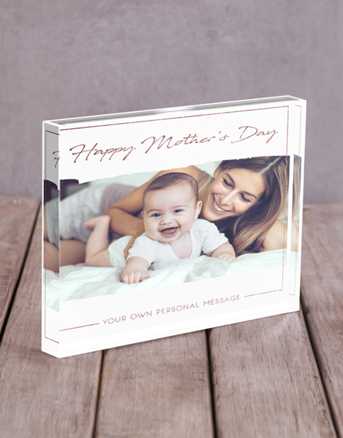 personalised: Personalised Happy Mothers Day Acrylic Block!