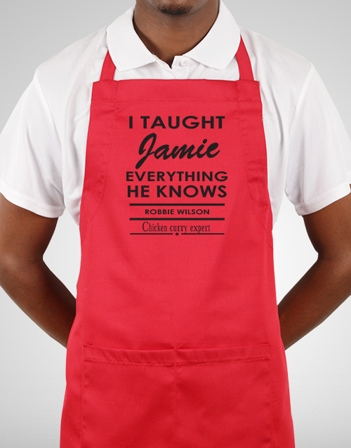 personalised: Personalised I Taught Apron!