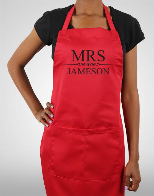 homeware: Personalised Mrs Apron!