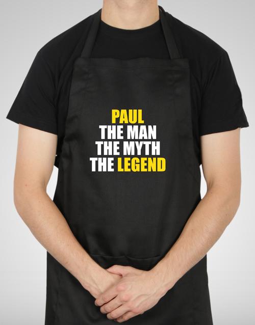 birthday: Personalised The Legend Apron!