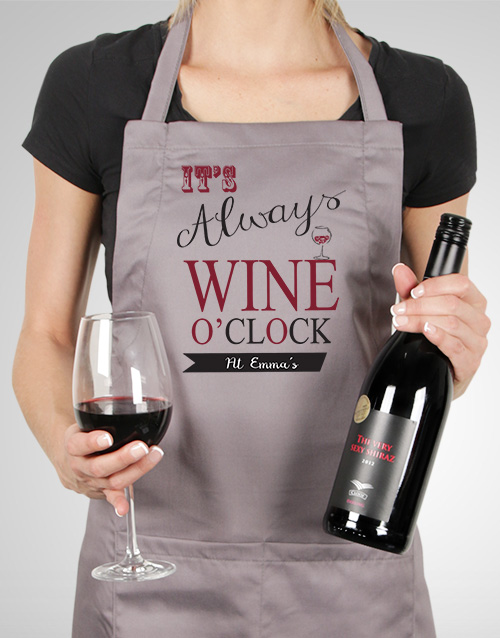personalised: Personalised Wine O Clock Apron!