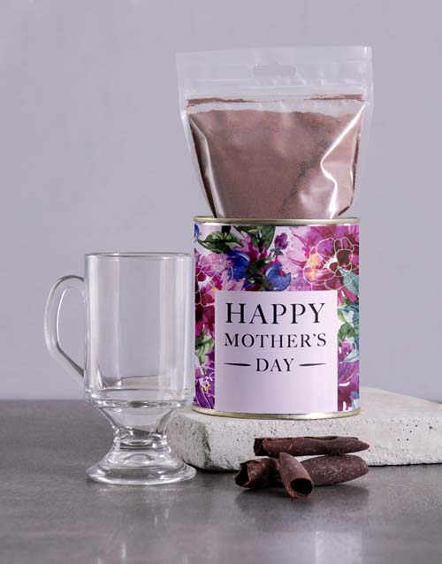 personalised: Personalised Mothers Day Hot Choc Floral Tin!