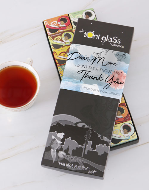 personalised: Personalised Thank You Tea Box For Mom!