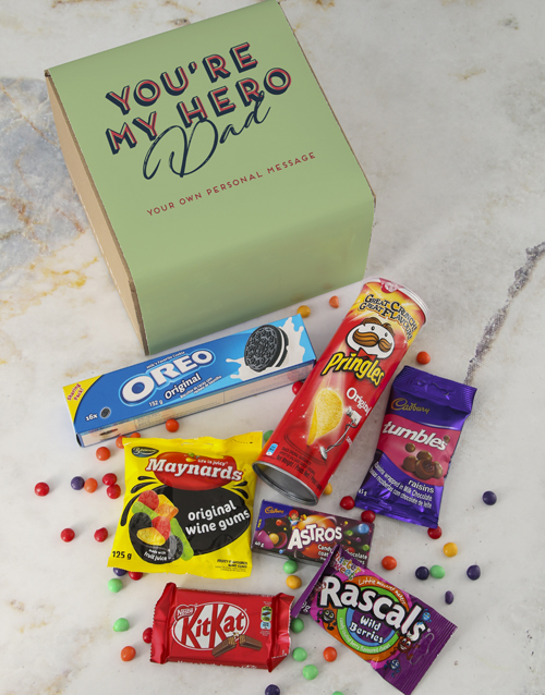 fathers-day: Personalised Hero Dad Gourmet Box!
