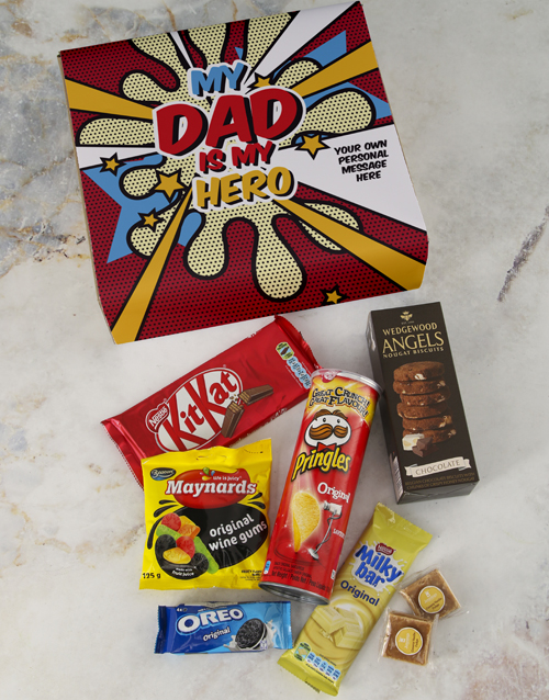 fathers-day: Personalised My Hero Gourmet Dad Box!
