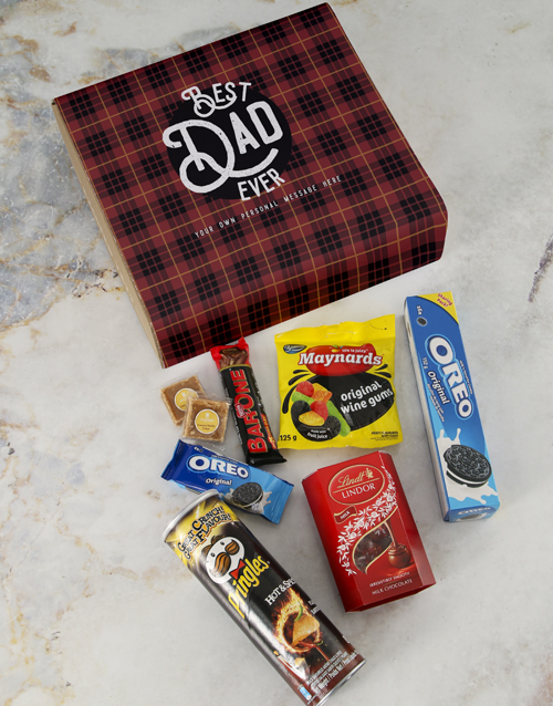 fathers-day: Personalised Best Dad Ever Gourmet Hamper!