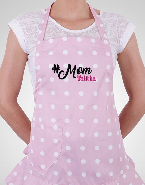 mothers-day: Personalised Polka Dot Mom Apron!