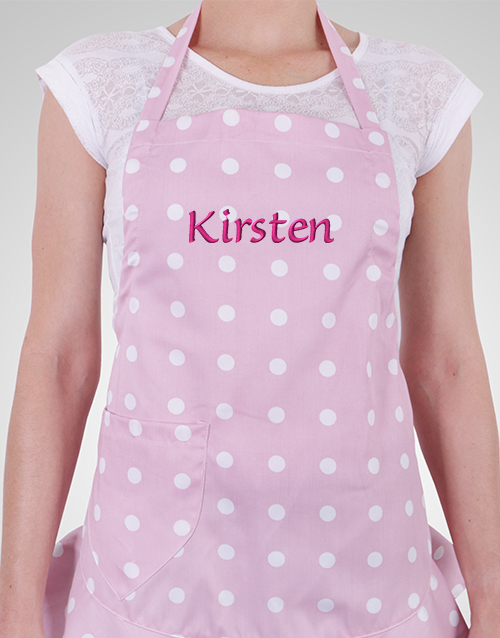 personalised: Personalised Polka Dot Apron!