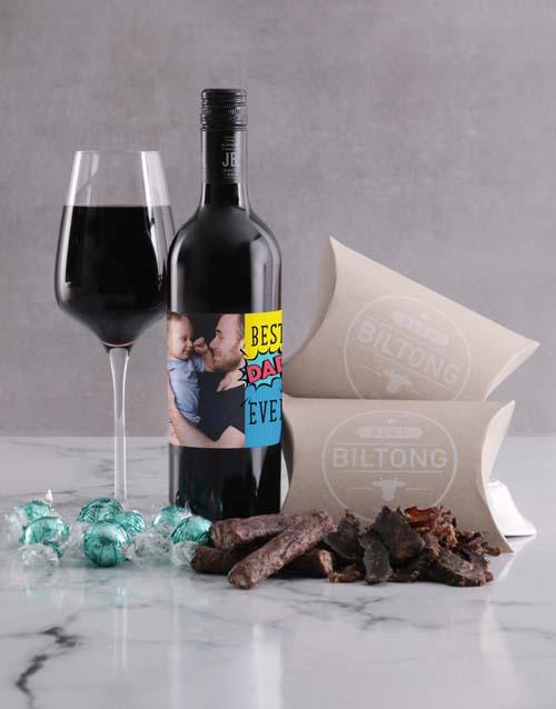 personalised: Personalised Best Dad Photo Snack Hamper!