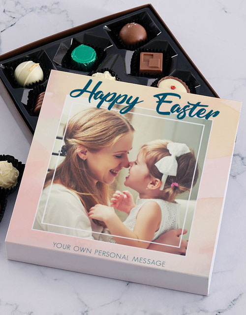 easter: Personalised Photo Easter Chocolate Tray!