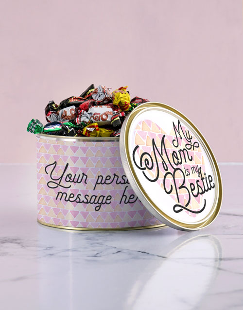 personalised: Personalised Mom My Bestie Chocolate Passions Tin!