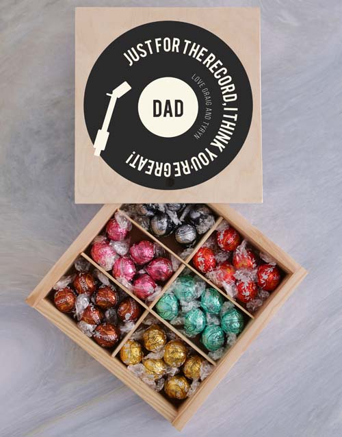 chocolate: Personalised For The Record Box Of Chocs!