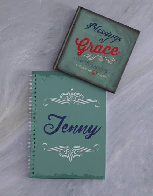 christmas: Personalised Notebook And Blessings of Grace!