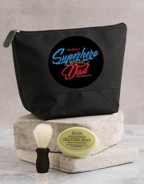 grandparents-day: Personalised Super Hero Wash Bag!