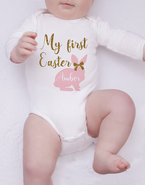 easter: Personalised First Easter Girl Onesie!