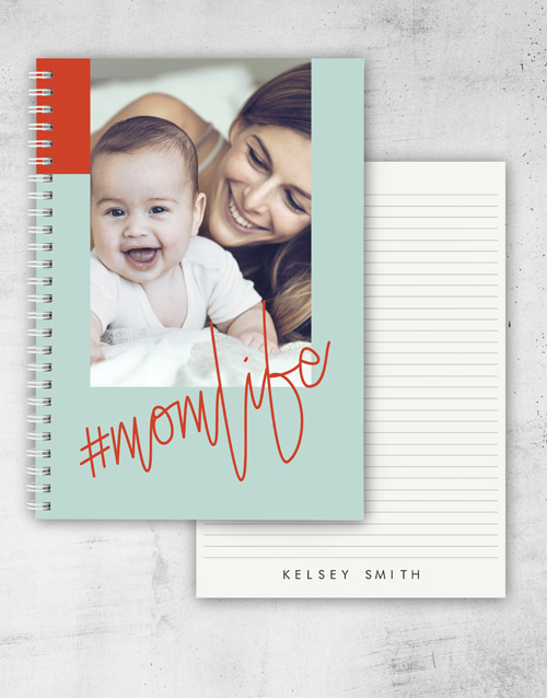 mothers-day: Personalised Momlife Notebook!