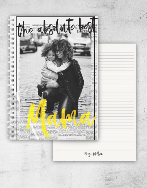 mothers-day: Personalised Vogue Notebook!