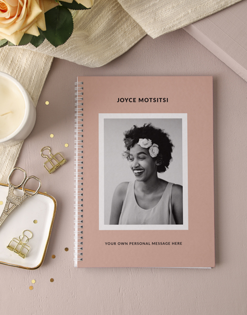 mothers-day: Personalised Vintage Pink Photo Notebook!