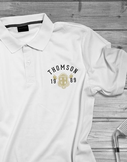 clothing: Personalised Year Badge Polo Shirt!