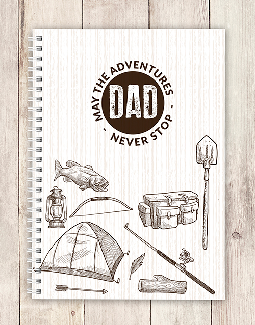 fathers-day: Personalised Adventurous Dad Notebook!