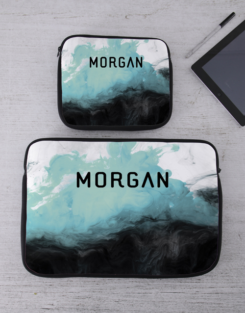 bags-and-handbags: Personalised Watercolour Tablet or Laptop Sleeve!