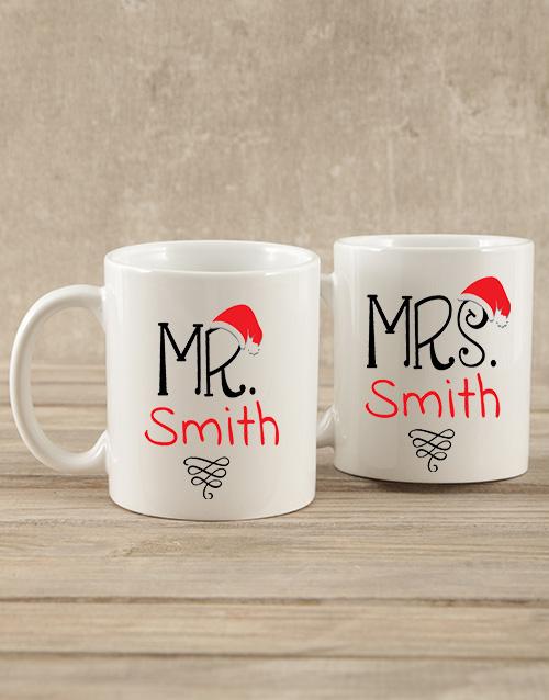 christmas: Personalised Mr & Mrs Mug Gift!