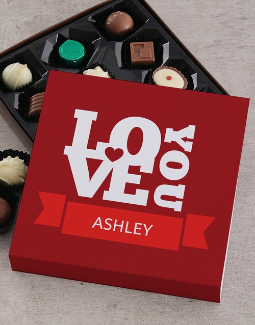 love-and-romance: Personalised Love Chocolate Tray!