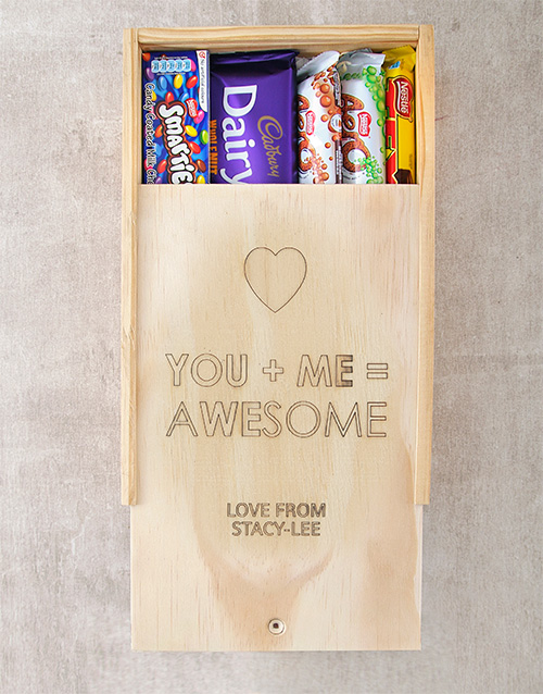 personalised: Personalised Awesome Chocolate Box!