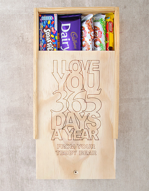 chocolate: Personalised Love U All Year Chocolate Box!