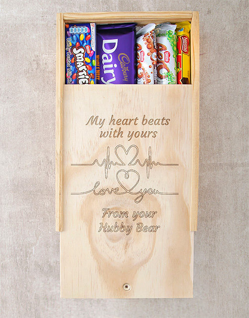 personalised: Personalised Heart Beats Chocolate Box!