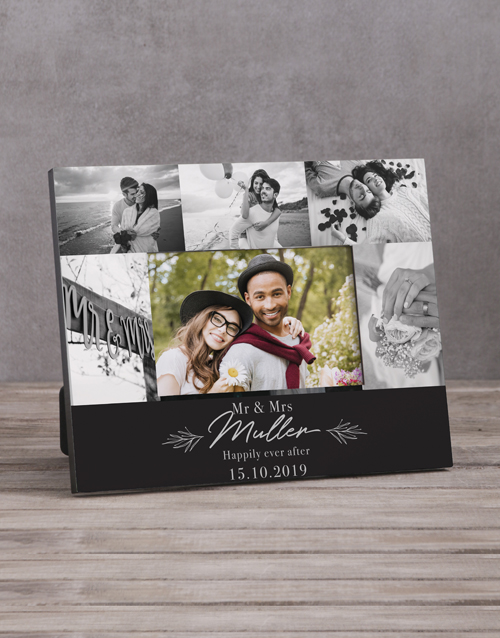 gifts: Personalised Mr & Mrs Multi Photo Frame !