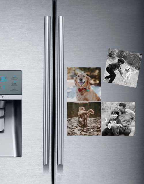 christmas: Personalised Photo Magnets Set Of Four!
