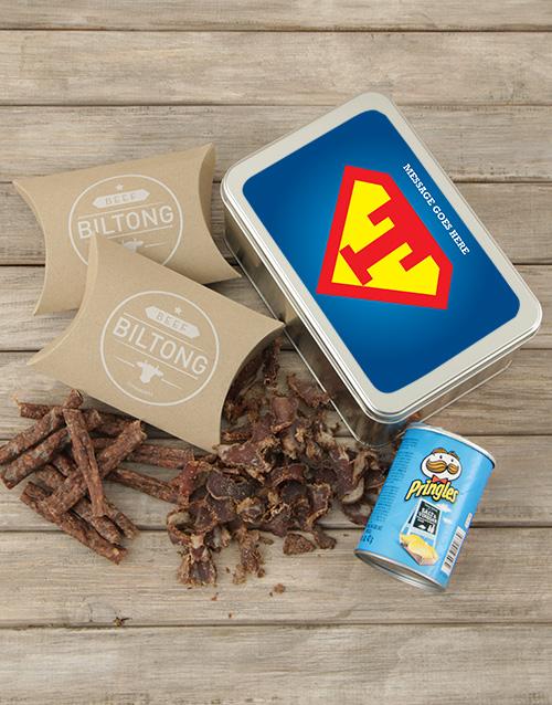 personalised: Personalised Superman Snack Tin!