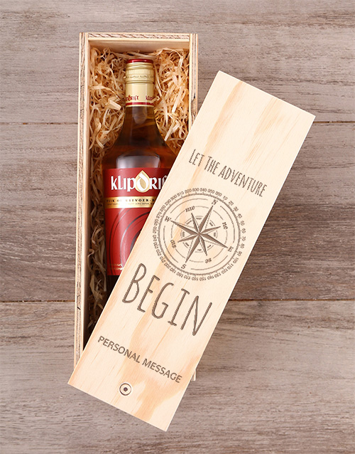fine-alcohol: Personalised Let The Adventure Begin Crate!
