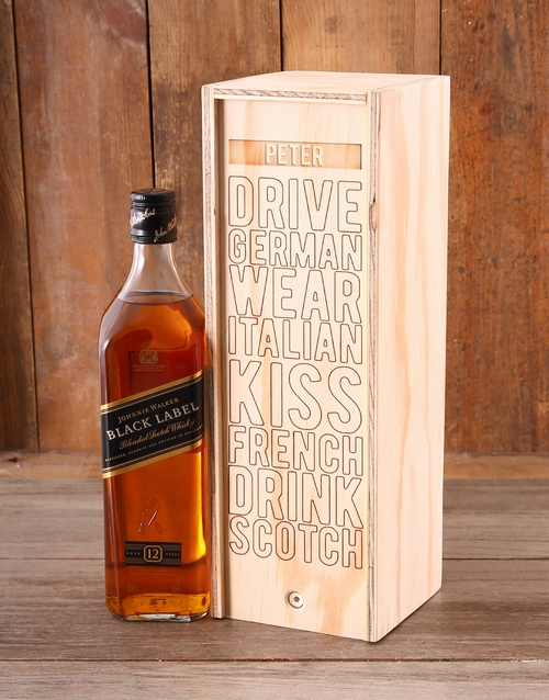 fine-alcohol: Personalised Kiss French JW Crate!