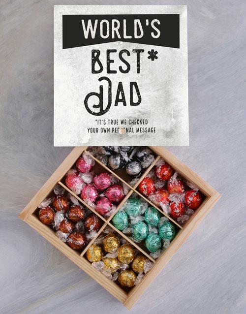 chocolate: Personalised Worlds Best Dad Treasure Box!