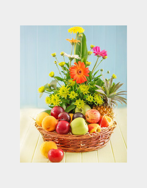get-well: Fruit and Flower Hamper!