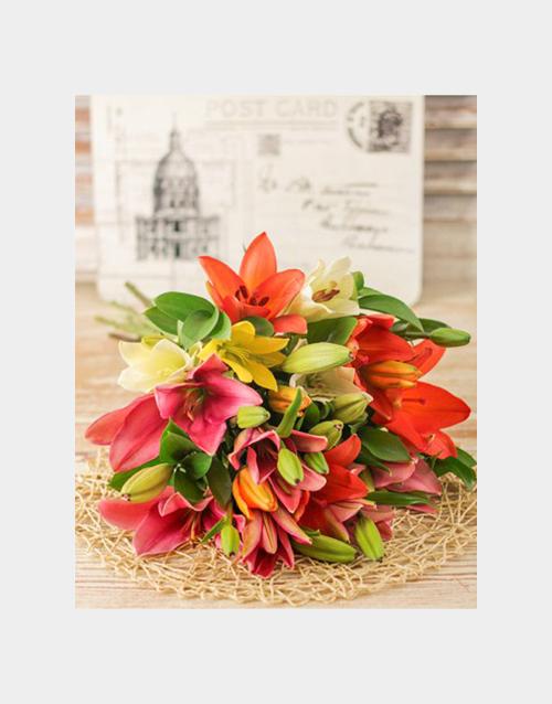 sympathy: Lavish Lily Bouquet!