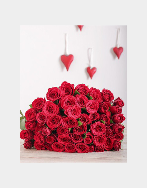 birthday: Cellophane Wrapped Red Roses !