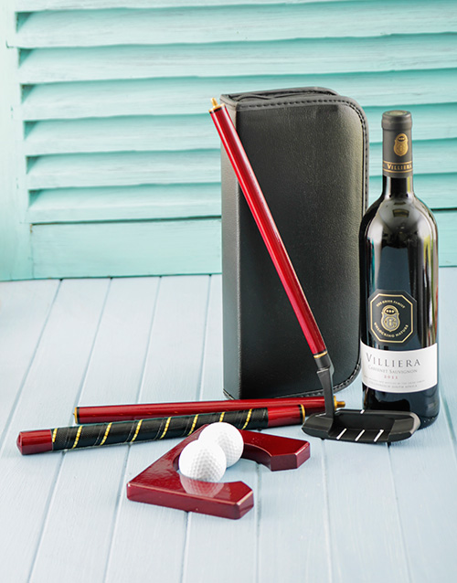 fine-alcohol: Villiera Red Wine and Golf Putting Set!