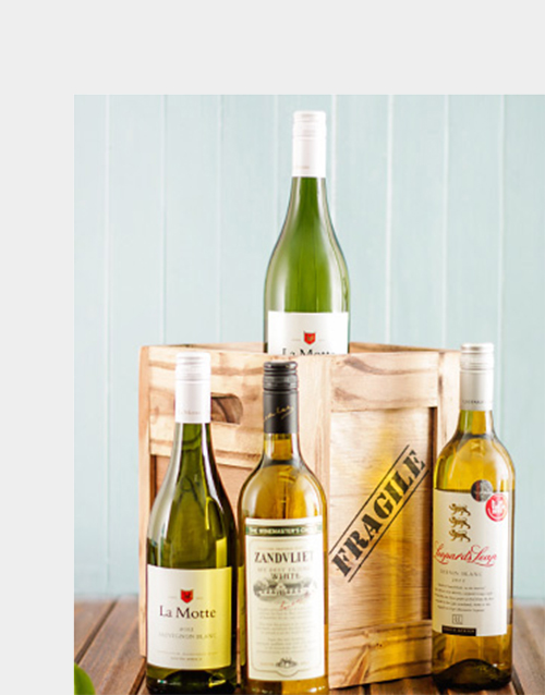 fine-alcohol: Four Bottles Of White Wine in a Crate!